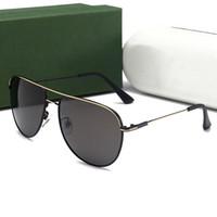 Wholesale Trendy Black Sunglasses - Luxury Brand Designer Sunglasses For Men Metal Frame Polarized Mens Sunglasses Trendy Crocodiles Fashion Driving Sun Glasses Mirror UV400