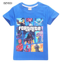 Wholesale teens summer clothes - Summer Fortnite T Shirt For Teen Boy Girl Tee Clothes Fashion Fornite Battle Royale Kid Print Cartoon Cotton Tank Top Children Tshirt