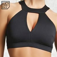 Wholesale Men Yoga Spandex - 2017 Sexy Hollow Out Sports Bra Top Women Fitness Yoga Bras Backless Gym Padded Sport Top Athletic Workout Running Underwear