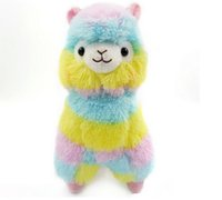 Wholesale selling doll - 2018 hot selling Cute Rainbow Alpacasso Kawaii Alpaca Llama Arpakasso Soft Plush Toy Doll Gift OTH894