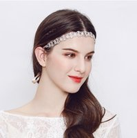 Wholesale Elegant Wedding Head Band Silver Color Rose Gold CZ Stone Bridal Head Pieces Hair Vine Wedding Hair Accessories