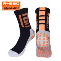 нейлоновые носки оптовых-R-BAO Противоскользящие взрослые средние телята Короткие спортивные носки для футбола / футбола / баскетбола / волейбола Нейлоновые носки Толстое полотенце Нижняя часть резиновые противоскользящие