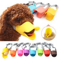 mundhunde großhandel-Hund Gesicht Maske Muzzle Mund Anti-Biss Ente Mund Form Silikon Mund Abdeckungen Anti-angerufene Abdeckung 8 Farben AAA970