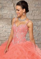 Wholesale beaded silk taffeta ball gowns - Gorgeous Ball Gown Sweetheart Ruffled Beaded Hot Pink 2018 Quinceanera Dresses Evening Dresses Tailor made -98490