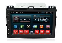 toyota prado radio din NZ - Quad Core 1024*600 HD Screen Android 6.0 Car DVD GPS Navigation Player for Toyota Prado 2008 Radio Bluetooth Steering Wheel Control