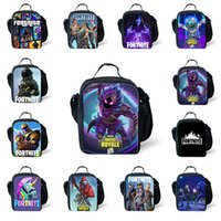 Wholesale one boxes games online - Kids Fortnite Lunch Box Bag The Fortress Night Teenager Backpack Students Schoolbag Luminous Unisex Game Storage Bags