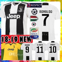 Wholesale top thai jerseys - Top Thai 2019 RONALDO JUVENTUS Soccer Jersey 18 19 JUVE 2018 2019 DYBALA HIGUAIN Football Shirt CRISTIANO MANDZUKIC Uniform Team
