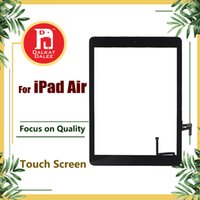 correção de ar venda por atacado-Para ipad air 1 para ipad 5 digitador da tela telas de toque assembléia de vidro com botão home adesivo de cola substituição fix peças a1474 a1475