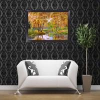 пейзажные рисунки оптовых-Рамка пейзажи DIY 5D Dimond живопись бисером наборы мозаика рисунки раскраски по номерам пейзаж живопись