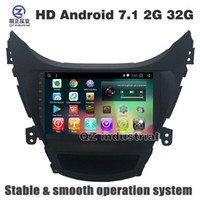 Wholesale hyundai elantra dvd - QZ industrial HD 9inch 8 core Android 7.1 T8 Car DVD player for Hyundai Elantra 2012-2015 with 3G 4G WIFI Radio Navigation Bluetooth GPS Map