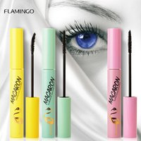 Wholesale bottom eyelashes resale online - Flamingo Bottom Eyelash Mascara Supper Fine Head No Clumping Thick Lengthening Curling Easy to Remove Threaded Brush Head Lower Mascara