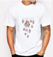 neue typen hemden großhandel-Weihnachtskerzen der Männer, die neue kurzärmlige T-Shirts 10 Arten Mann-und Frauen-T-Stück sprengen