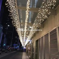 Wholesale christmas bulbs for curtains online - 10 m Bulbs LED Curtain Wedding Lights For Decoration LED Gerlyanda Christmas Garland light New Year Holiday Fairy lights