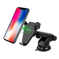 iphone holder şarj yuvası toptan satış-360 Rotasyon Qi Kablosuz Hızlı Hızlı Şarj Tutucu Manyetik Hava Firar Montaj Dock SAMSUNG S8 S7 S6 Kenar + 8 iPhone X için
