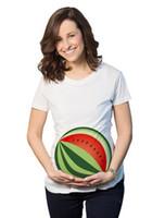 yard langdruck großhandel-Mutter langes T-Shirt großer Yard-T-Stück Karikatur-Wassermelonen-Fußball druckte Sommer-Spitze für Mutterabnutzung