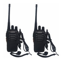 Wholesale portable radio transceiver - BF-888S Walkie Talkie Portable Radio BF888s 5W 16CH UHF 400-470MHz BF 888S Comunicador Transmitter Transceiver Free DHL Shipping