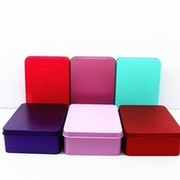 Wholesale pack sweets resale online - Sugar Box Rectangle Packing Sweet Iron Boxes Originality Large Candy Case Tinplate Wedding Ceremony Cute Gifts lz ff