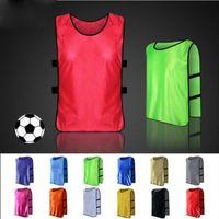 Wholesale Football Training Vests - Men's blank soccer team against bibs football training jerseys high quality men's soccer shirt sports group against vest