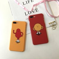 Wholesale Cool Cell Cases - For iPhone 6 hard slim case matt pc coolest mobile cell phone back cover for iPhone8 8Plus 7 8 6S Plus X orange