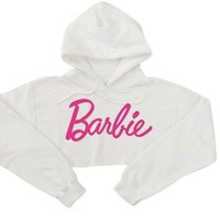 женские розовые толстовки оптовых-Young Girls Sweatshirt Harajuku Fashion Pink Leers Printed Sexy Crop Top Hoodies Women Punk Hip-hop Sweatshirt Short Style