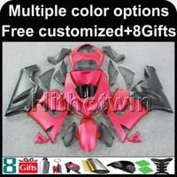 ingrosso zingere dentellare zx636-23 colori + 8Gifts carrozzeria rosa carenatura per Kawasaki Ninja zx-6r 05 06 ZX 6R 636 ZX636 05-06 ZX6R