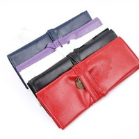 Wholesale vintage cosmetic cases - ISKYBOB Retro Vintage Pencil Pen Case Cosmetic Pouch Pocket Brush Holder Makeup Bag Cosmetic Cases