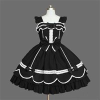 victorian partisi toptan satış-Lolita Elbiseler Kolsuz Yeni Varış Victoria Gotik Elbise Gotik Rönesans Kostümleri Cadılar Bayramı Partisi Için Özelleştirilmiş XS-3XL