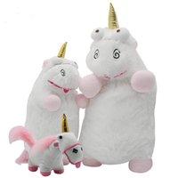 engraçado enchido animais venda por atacado-22 CM 40 CM 60 CM Unicorn Plush Toys Boneca 9 polegadas 15.8 polegadas 24 inch Stuffed animals Crianças brinquedo interativo Bebê engraçado Xmas Juguetes de Peluches Bebe