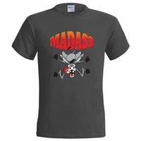 burro dos desenhos animados venda por atacado-MADASS DESENHOS ANIMADOS DESIGN ENGRAÇADO DOS HOMENS T SHIRT GRACEJO ASS NUTTER LOUCO MAD PRESENTE RETRO VINTAGE Clássico t-shirt