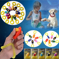 Wholesale new product key for sale - Group buy New Pet Trainer Pet Dog Training Dog Clicker Adjustable Sound Key Chain and Wrist Strap Doggy Train Click Pet Training Tool I297