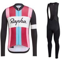 nuevo rapha jersey al por mayor-Equipo de MERIDA RAPHA Pantalones largos de jersey (babero) de ciclismo de mangas 2018 Ropa de bicicleta de recién llegado Múltiples opciones Hombres simples 061202
