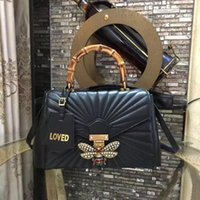 bolsos de las mujeres hermosas al por mayor-Queen Margaret bolso de mano de cuero 075 hermosas mujeres de moda de cuero de lujo bolsos de las señoras estilo envío libre rápido 476531
