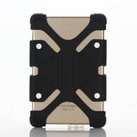Wholesale china mini tablet online - Universal Silicone Tablet Case Protective Stand Cover Bumper Frame For iPad mini New ipad Samsung galaxy T380 LG Tablet