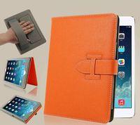 Wholesale Orange Ipad Mini Cases - For iPad Pro 9.5 2017 air 2 3 4 5 6 Mini Luxury H Brand Leather Flip case cover for ipad air with bracket Card holder flip cases