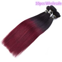 Wholesale wavy ombre hair extensions online - Peruvian Straight Ombre B J Hair Extensions Human Hair Weave inch Top Quality Unprocessed Wavy Hair
