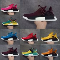 Wholesale Brown Friends - Human Race NMD Shoes Family Friends Purple Harrell Williams New Arrival West Boost Sport Sneakers Fashion Men Women Running Shoes With Box
