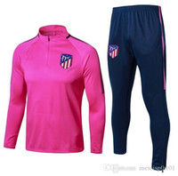 Wholesale f train - hot sale 2017 18 Atletico jacket Training suit kit Jersey 17 18 GRIEZMANN F TORRES KOKE SAUL CARRASCO Madrid jackets tracksuit