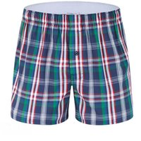 algodón suelto a cuadros al por mayor-60PCS Brand Plaid Loose Combed Cotton Ropa interior para hombres Boxer Shorts Mens Leisure Lounge Home Wear Underpants