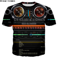 ecualizador de flash al por mayor-venta al por mayor Fashion Flash Music Activated T Shirt LED ilumina hacia arriba y hacia abajo EL Equalizer Bar T-Shirt Men para Rock Party DJ T-shirt