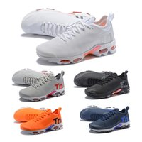 Wholesale mercurial white gold for sale - Group buy 2018 TN Plus Running Shoes Classic Outdoor Run Shoes TNS Black White Sport Shock Sneakers Mens Shoes Womens Mercurial Athletic Sneakers
