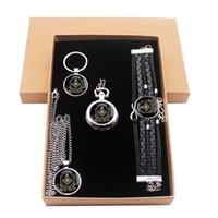 east box оптовых-Я всегда смотрю на Восток масонские ювелирные изделия подарочный набор есть карманные часы и кулон ожерелье и брелок браслет с подарочной коробке
