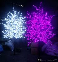 ingrosso ha condotto l'albero artificiale della ciliegia chiara-1.8 M Altezza LED Artificiale Cherry Blossom Tree Light Luce di Natale 1152 pz LED Lampadine 110/220 VAC Impermeabile fairy garden Decorazioni di natale