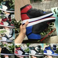 super popular c9066 a4123 nike air Jordan 1 air max Michael Jordan Retro 2018 Nuovo 1 top 3 Banned  Bred Toe Chicago OG Gioco Royal Blue mens scarpe da basket 1s sneakers  Shattered ...