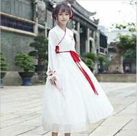 ingrosso opere di ricamo cinese-Stile cinese Retro Hanfu Originale Hanfu opere di elementi cinesi abbigliamento Eleganza femminile antico ricamo cantonese Abito da ragazza