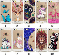 Wholesale butterfly galaxy note case - Shockproof Relief Soft TPU Case For Galaxy S9 Plus Note 8 S8 (A8 J2 Pro)2018 Unicorn Lion Owl Flower Panda Butterfly Flamingo Silicone Cover