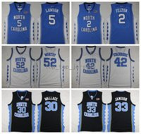 Wholesale bright brown - North Carolina Tar Heels College 42 Jerry Stackhouse Jersey 52 James Worthy 30 Rasheed Wallace 33 Bright Antawn 2 Felton 5 Lawson 44 Jackson