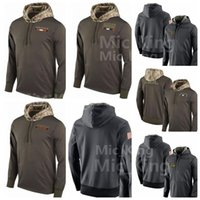 Wholesale service camps - Men's Women Youth Cleveland Brown Dallas Cowboy Chicago Bear CINCINNATI BENGAL alute to Service Sideline Therma Pullover Hoodie