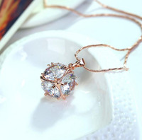 Wholesale Western Necklaces - Elegant western style necklace fashion necklace with crystal pendant collarbone chain birthday nice gift free ship