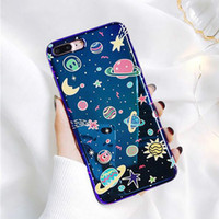 Wholesale Universe Series Phone Case For iphone X Case For iphone S Plus Fashion Blu Ray Cover Cute Planet Moon Star Cases
