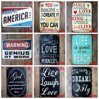 Wholesale feng shui arts online - Cave Tin Signs cm Vintage Wall Art Retro Old Wall Metal Painting Coffee Restaurant Home Decoration OOA5898